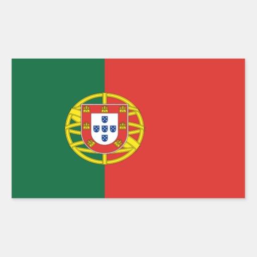 Etiqueta da bandeira de Portugal Adesivo Em Formato Retângular