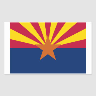 Etiqueta da bandeira do estado da arizona - 4 por