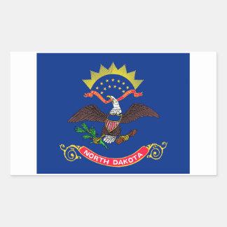 Etiqueta da bandeira do estado de North Dakota - 4