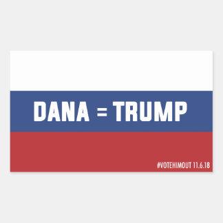 Etiqueta da bandeira do russo de Dana = de trunfo