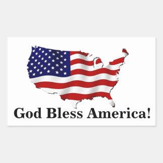 Etiqueta da bandeira dos Estados Unidos de América