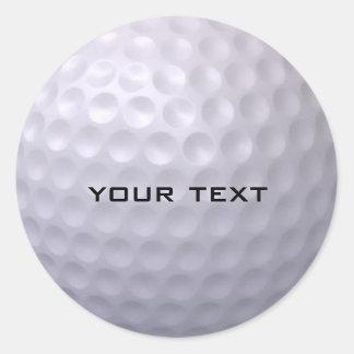 Etiqueta da bola de golfe