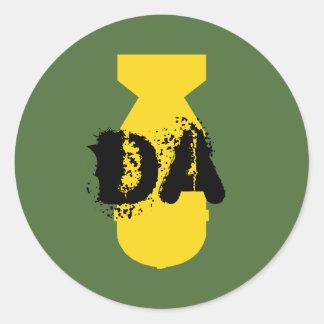 Etiqueta da bomba da Dinamarca Adesivo Em Formato Redondo