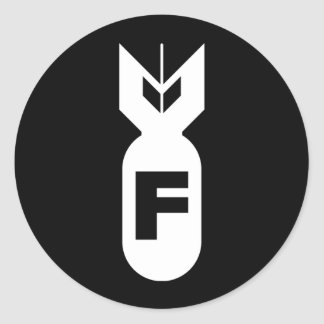 Etiqueta da bomba de F Adesivos Redondos