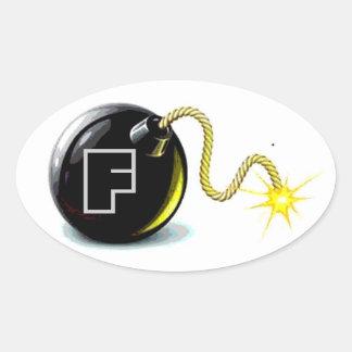 Etiqueta da bomba de F Adesivos