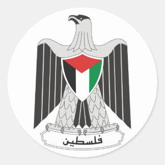 Etiqueta da brasão de Palestina
