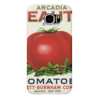 Etiqueta da caixa da fruta do vintage, tomates da capa para samsung galaxy s6