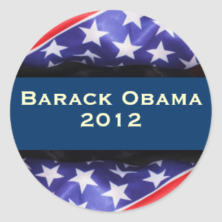 Etiqueta da campanha de OBAMA 2012 Adesivos Redondos