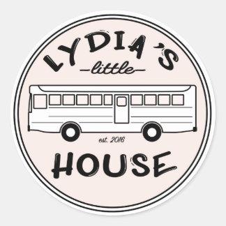 Etiqueta da casa de Lydia pouca