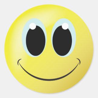 Etiqueta da casa ou do escritório do smiley face