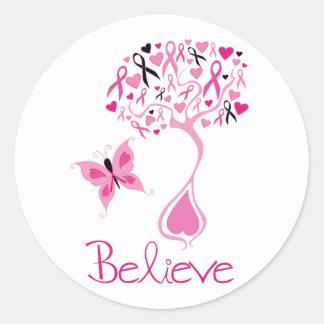 Etiqueta da consciência do cancro da mama
