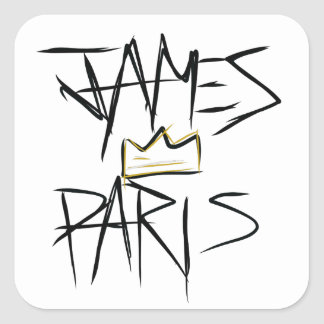 Etiqueta da coroa de James Paris