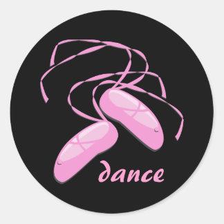 Etiqueta da dança adesivo em formato redondo