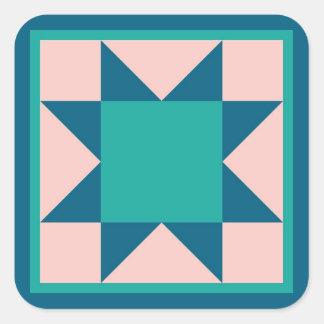 Etiqueta da edredão - estrela do Sawtooth