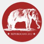 Etiqueta da eleição presidencial dos republicanos adesivo redondo