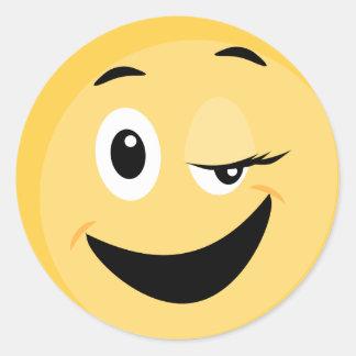 Etiqueta da escola com smiley face Emoji
