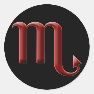 Etiqueta da Escorpião #2 Adesivos Em Formato Redondos