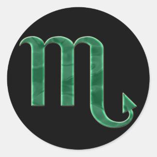 Etiqueta da Escorpião #3 Adesivo Em Formato Redondo