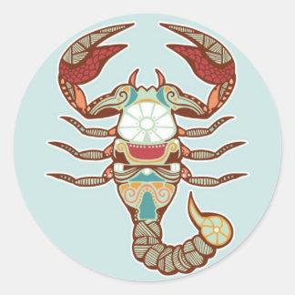 Etiqueta da Escorpião Adesivo
