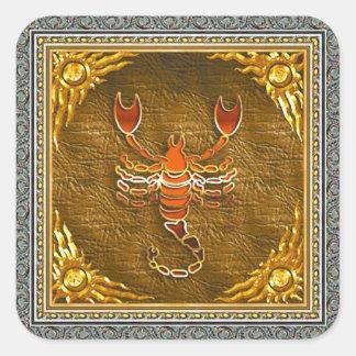 Etiqueta da Escorpião Adesivo Quadrado
