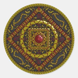 Etiqueta da Escorpião Adesivos Redondos