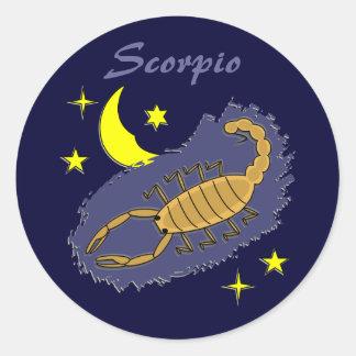 Etiqueta da Escorpião Adesivo Em Formato Redondo