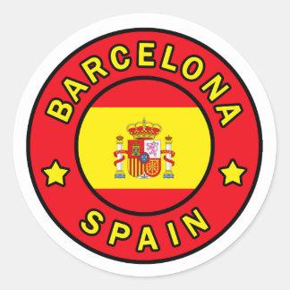 Etiqueta da espanha de Barcelona