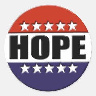 Etiqueta da esperança de Obama Adesivo Em Formato Redondo
