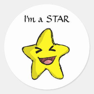 Etiqueta da estrela adesivo
