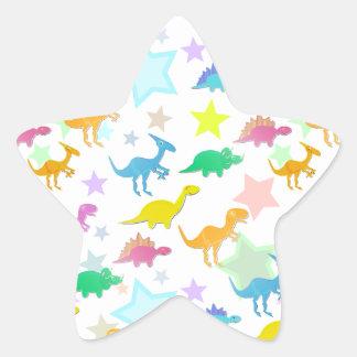 Etiqueta da estrela da cor dos dinossauros dos adesivos em forma de estrelas