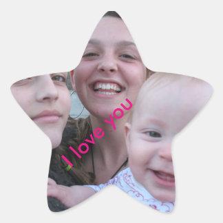etiqueta da estrela da irmã adesito estrela