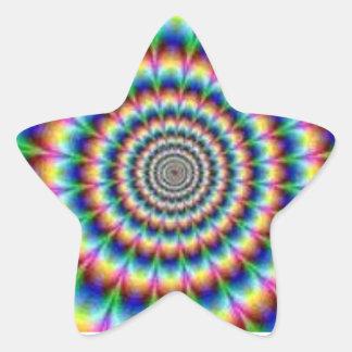 etiqueta da estrela da Laço-tintura Adesito Estrela