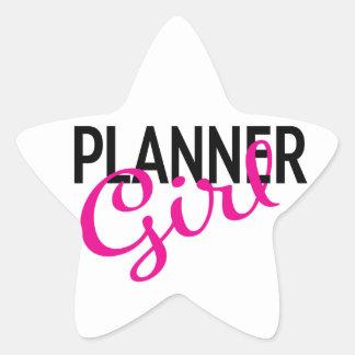 Etiqueta da estrela da menina do planejador