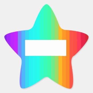 Etiqueta da estrela do arco-íris adesito estrela