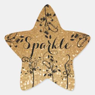Etiqueta da estrela do impressão do brilho da