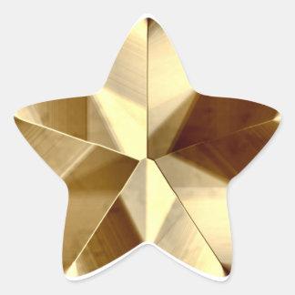 Etiqueta da estrela do ouro adesito estrela