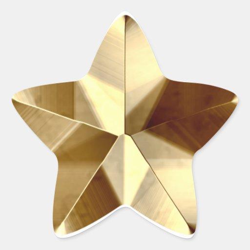 Etiqueta da estrela do ouro adesivo em forma de estrela
