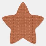 Etiqueta da etiqueta da cor escura - impressão no adesivos em forma de estrelas