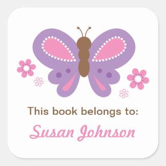 Etiqueta da etiqueta do nome da borboleta para