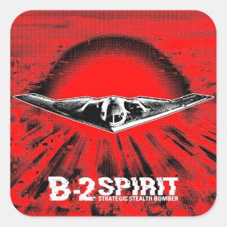 Etiqueta da etiqueta do quadrado do espírito B-2