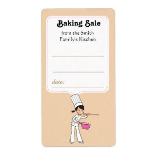 Etiqueta da etiqueta para vendas de cozimento com etiqueta de frete