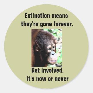 Etiqueta da extinção