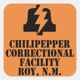 Etiqueta da facilidade correccional de Chilipepper