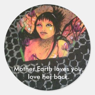 Etiqueta da fada da Mãe Terra