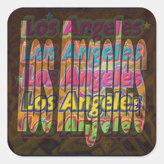 Etiqueta da faísca de Los Angeles Adesivo Quadrado