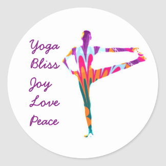 Etiqueta da felicidade da ioga