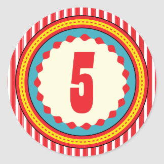Etiqueta da festa de aniversário do carnaval do adesivos em formato redondos