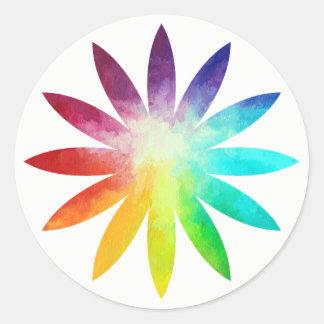 Etiqueta da flor do arco-íris, etiqueta do