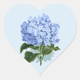 Etiqueta da flor do Hydrangea dos azul-céu do