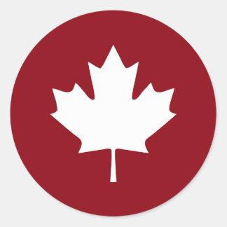 Etiqueta da folha de bordo de Canadá - cores